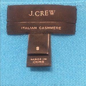 Blue cashmere Jcrew cardigan